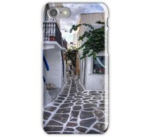Residential Streets of Mykonos iPhone Case/Skin