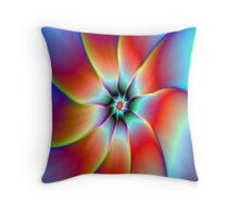Flower in Red Orange and Yellow Throw Pillow