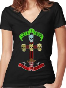 Guts N' Corpses Women's Fitted V-Neck T-Shirt