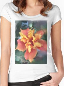 Hot Summer Bloom  Women's Fitted Scoop T-Shirt