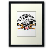 Baker Lady Skull: Let the good times roll! Framed Print