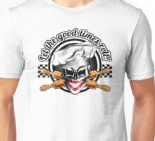 Baker Lady Skull: Let the good times roll! Unisex T-Shirt