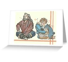 Bilbo and Pugs First Meeting (w/ Thorin) Greeting Card