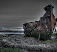 Wreck on Fleetwood Marsh by AlanDuggan