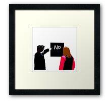No - Black Books Framed Print