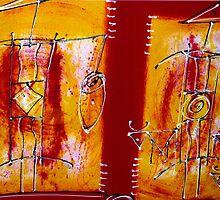 African painting - Print by WonderMeMosaics