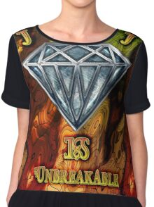 Diamond is Unbreakable Graphic Design High Quality Chiffon Top