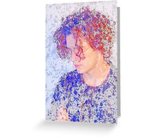 Matthew Healy The 1975 Patterned Saturated Image Greeting Card