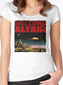 Altair IV... Welcome Women's Fitted Scoop T-Shirt