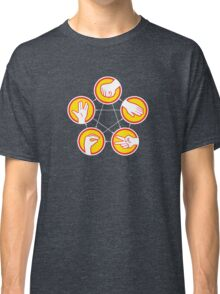 Rock Paper Scissors Lizard Spock - Yellow Variant Classic T-Shirt