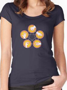 Rock Paper Scissors Lizard Spock - Yellow Variant Women's Fitted Scoop T-Shirt