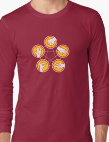 Rock Paper Scissors Lizard Spock - Yellow Variant Long Sleeve T-Shirt