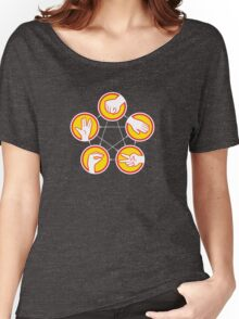 Rock Paper Scissors Lizard Spock - Yellow Variant Women's Relaxed Fit T-Shirt