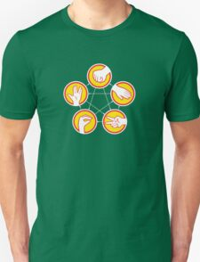 Rock Paper Scissors Lizard Spock - Yellow Variant Unisex T-Shirt