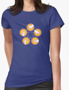 Rock Paper Scissors Lizard Spock - Yellow Variant Womens Fitted T-Shirt