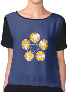 Rock Paper Scissors Lizard Spock - Yellow Variant Chiffon Top