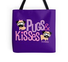 Pugs & Kisses Logo Tote (Purple) Tote Bag