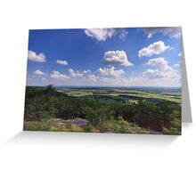 Sky, clouds and farmland Greeting Card