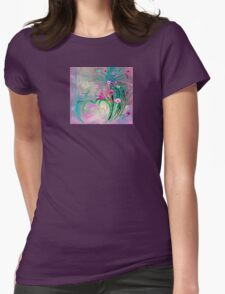 Charm In The Garden Womens Fitted T-Shirt