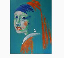 Girl With A Pearl Earring - Blue Portrait Unisex T-Shirt