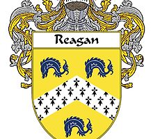 Reagan Coat of Arms / Reagan Family Crest by William Martin