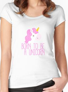 Born To Be A Unicorn Women's Fitted Scoop T-Shirt