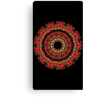 Cosmic red flower Canvas Print