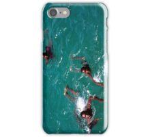 African Kids Swimming off Goree Island - Print iPhone Case/Skin
