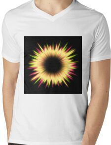 Light burst abstract design Mens V-Neck T-Shirt
