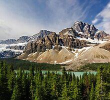 Crowfoot Glacier and Bow Lake by Charles Kosina