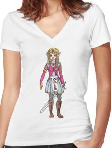 Warrior Princess Women's Fitted V-Neck T-Shirt