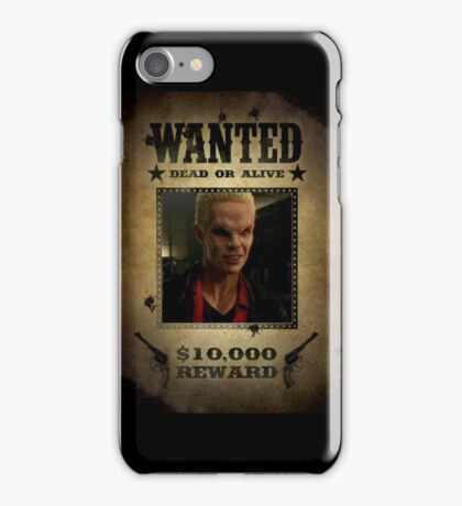Buffy Spike Wanted 2 iPhone Case/Skin