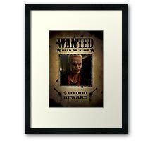 Buffy Spike Wanted 2 Framed Print