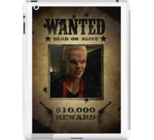 Buffy Spike Wanted 2 iPad Case/Skin