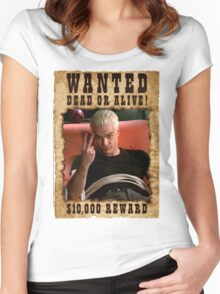 Buffy Spike Wanted 3 Women's Fitted Scoop T-Shirt