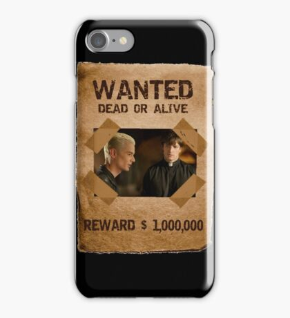 Buffy Spike and Caleb Wanted iPhone Case/Skin