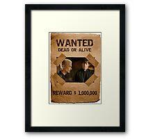 Buffy Spike and Caleb Wanted Framed Print