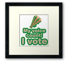My voice count! I vote Framed Print