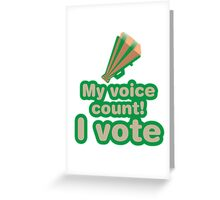 My voice count! I vote Greeting Card