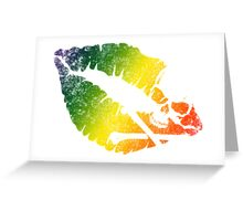 rainbow poison lips Greeting Card