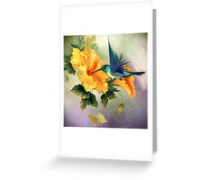 Little Humming Bird Greeting Card