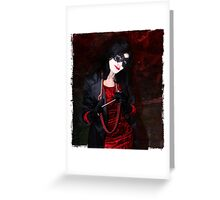 Glamour of the Night Greeting Card