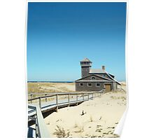 Lifesaving Station by the Sea Poster