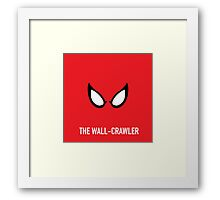 The Wall-Crawler Framed Print