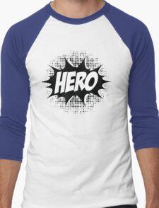Hero, Comic, Superhero, Super, Winner, Superheroes, Chef, Boss Men's Baseball ¾ T-Shirt