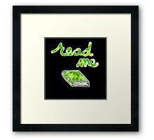 Read Me in Green Framed Print
