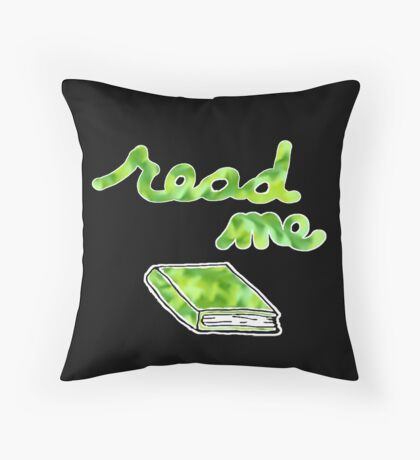 Read Me in Green Throw Pillow
