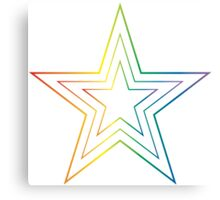 rainbow star Canvas Print
