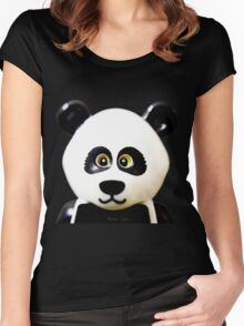 Cute Lego Panda Guy Women's Fitted Scoop T-Shirt