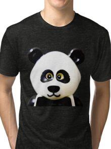 Cute Lego Panda Guy Tri-blend T-Shirt